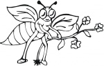 bee-takes-a-flower-coloring-page.gif