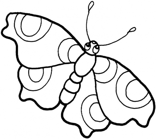 free simple butterfly coloring pages - photo#17