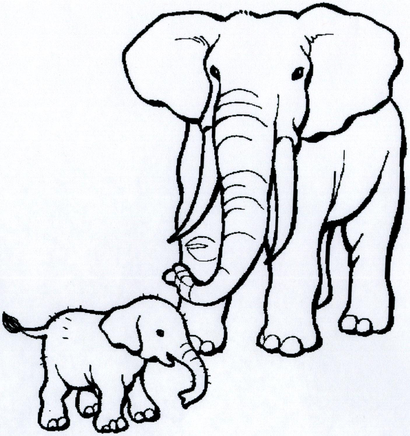 Mewarnai Gajah