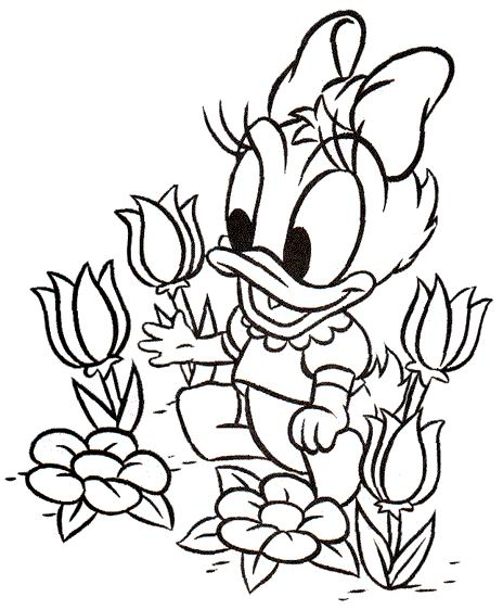 Daisy And Donald Duck Coloring Pages  GetColoringPagescom