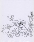puppy_and_flowers_coloring_pages_animal