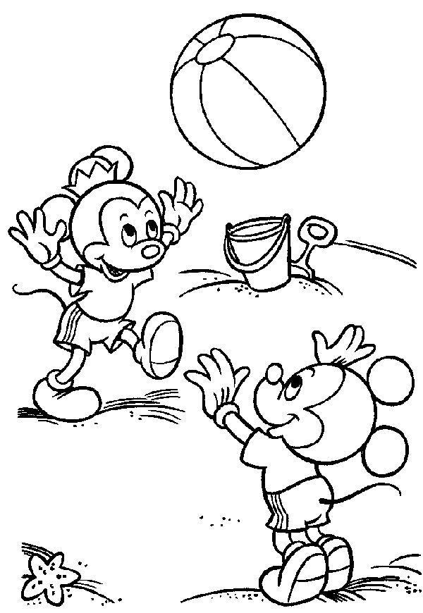 Mewarnai Mickey Dan Minnie Kelompok Bermain Alia